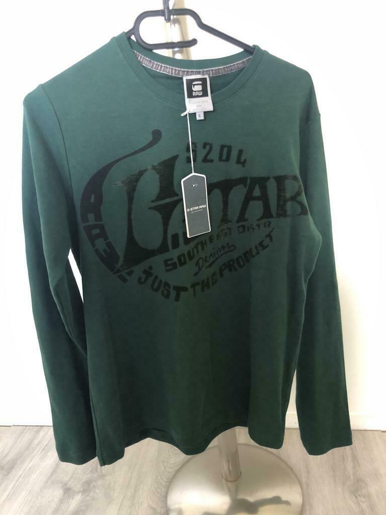 G-STAR RAW Sweaters Lange mouw Heren (Groen-Maat S)