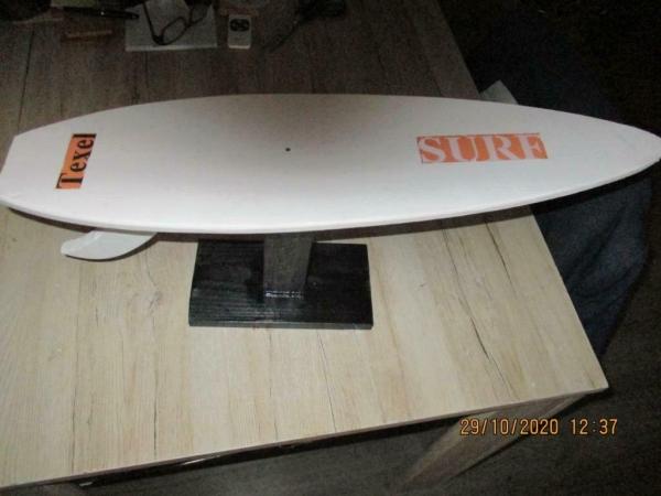 Unieke mini surf board trofee