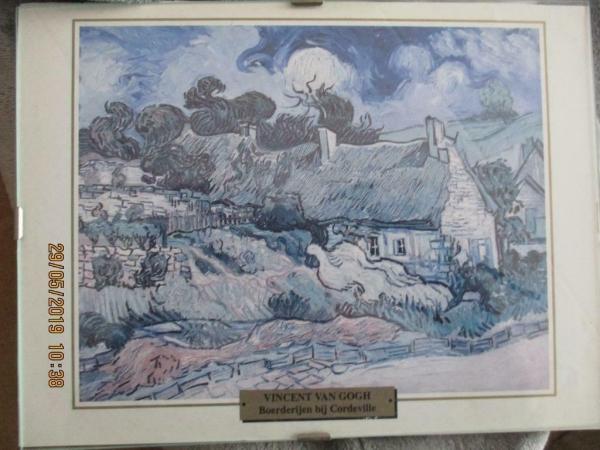 Schilderij met tekening van van Vincent van Gogh