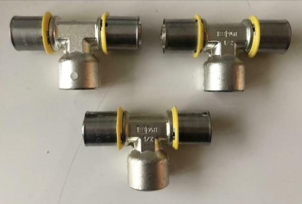 Uponor MLC-G GAS plus perskoppeling T-stuk 20 x 1/2 x 20mm