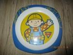 Verzameling bob de bouwer eet bord 22 cm