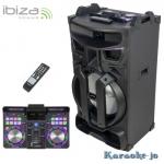 IBIZA STANDUP18-MAX Actief Dj-systeem 18 Inch 900 Watt
