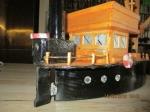 Houten zelf ontworpen en gebouwde boot viskotter, eigen ontw
