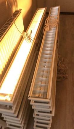 Enkellamp TL Armaturen inbouw voos systeemplafons. 150x15cm
