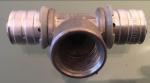 Uponor MLC T-stuk, 20mm x 1/2 x 20mm binnendraad x pers)