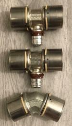UPONOR 2xT-STUK 50X25X50mm, 1 KNIE 30 Graden 50x50mm