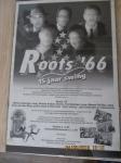 Originele aankondigingsposter, optreden muziekband Roots 66 Voor