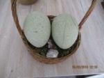 Paas mand met 2 nep struisvogel eieren