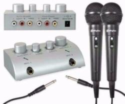 Karaoke microfoon mixer + microfoons (112T)