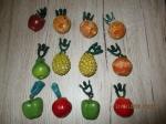 Tafelkleed gewichtjes fruit 15 stuk om je tafellaken buiten