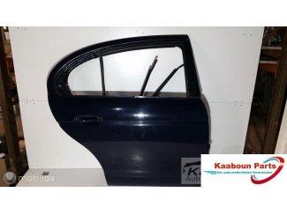 Deur / portier rechts achter blauw Jaguar S-type 1999 - 2007
