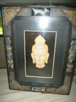 Boeddha hang ornament, verlichting in kast 45 x 35 x 8 cm
