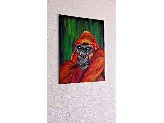 Gorilla schilderij