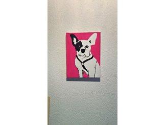 Schilderij fransebulldog