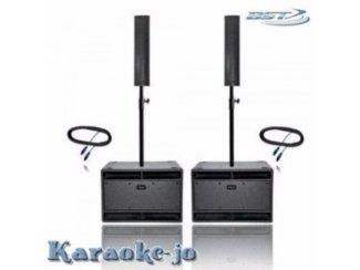 Actieve zang set 1800 Watt 2 x sub 2 x Top speakers