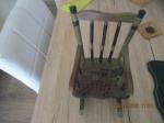 poppen Schaalmodel zwarte schommelstoel 25h x 15 breed x 17
