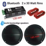 Bluetooth Vochtbestendige luidsprekers 16cm Zwart 2x 30Watt