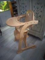 Tiamo massief houten kinderstoel , meervoudig verstelbaar