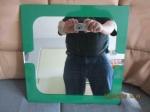Spiegel met groene omlijsting m 39 x 39 cm