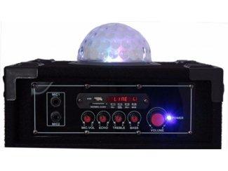 Karaoke speakers USB en SD met Astro Licht Effect (2074-B)