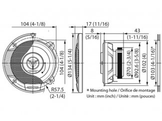KENWOOD-KFC-S1066 10cm 2 weg speaker set. Nieuw
