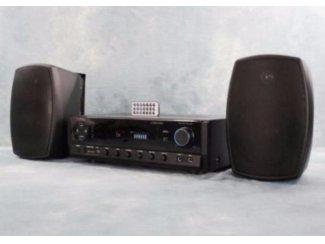 Tuner met USB SD Bluetooth en Buiten Speakers (053B-SET)