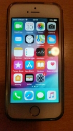 iphone 5 S gold met silicon beschermhoes + originele doos