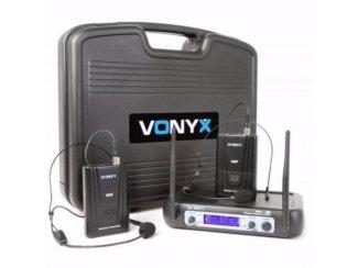 Microfoon 2-Kanaals VHF 2 x headset Draadloos (220-T)