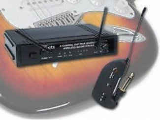 Draadloos UHF gitaarsysteem (863MHz) met diversity ontvanger