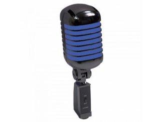 Retro Styl Zang microfoon Zwart/Blauw