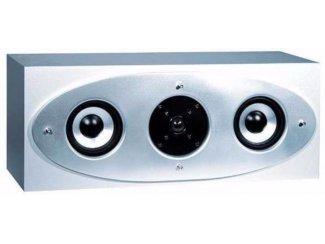 Center speaker 2-Weg, 60 Watt ( Zilver/Grijs) Nieuw,