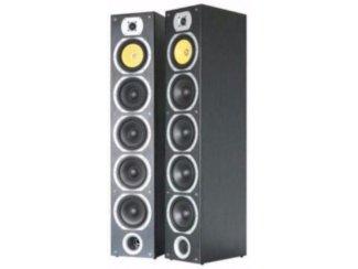 Elegant uitgevoerde 4-weg speakerset Zwart (070-B)