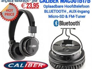 Caliber MAC501BT-B Bluetooth Hoofdtelefoon