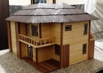 Model Villa Miniatuur houten handgemaakte huis