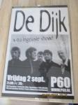 Originele speciale aankondigingsposter, optreden muziekband de di