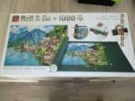 puzzel 1000 stukjes met onderlegger en handige opberger