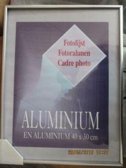 Echt aluminium lijst