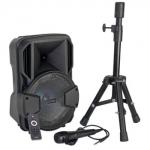 PARTY-MOBILE8-SET Oplaadbare Bluetooth box met statief
