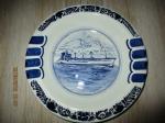 Delftsblauw asbak/bord 21,5 cm diameter in opdracht door sea