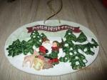 Kerst schild bord