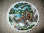 Fine China Porselein wand/staand bord schildering Australië