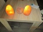 3 Himalaya zout kristal blokken als lampen